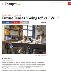 """ESL Lesson Plan to Teach the Future Tenses """"Going to"""" and """"Will"""""""