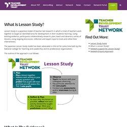 What is Lesson Study? - Teacher Development Trust