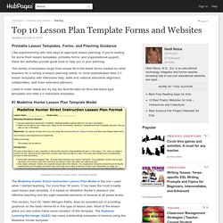 Top 10 Lesson Plan Template Forms and Websites