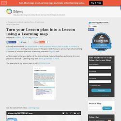 Turn your Lesson plan into a Lesson using a Learning map