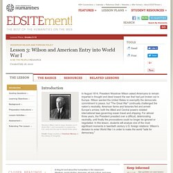 Lesson 3: Wilson and American Entry into World War I