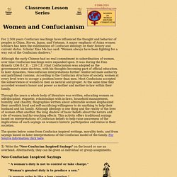 Lesson: Women and Confucianism