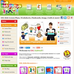 ESL Kids lesson plans, worksheets, flashcards, songs and games