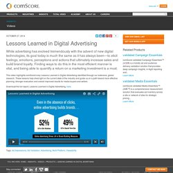 Lessons Learned in Digital Advertising
