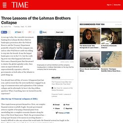 Three Lessons of the Lehman Brothers Collapse