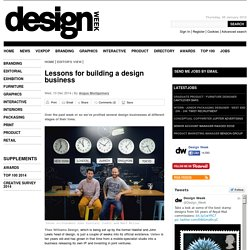 Lessons for building a design business