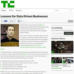 Lessons for Data Driven Businesses