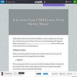 6 Lessons Your Child Learns From Mickey Mouse