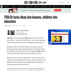 TED-Ed turns ideas into lessons, children into educators