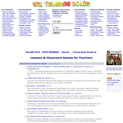 Lessons & Classroom Games for Teachers -