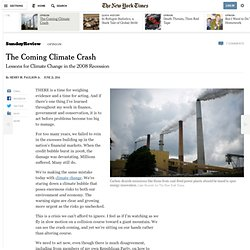 Lessons for Climate Change in the 2008 Recession