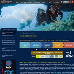 Enroll at All4Diving for spectacular Diving Courses in Phuket