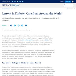 Lessons in Diabetes Care from Around the World