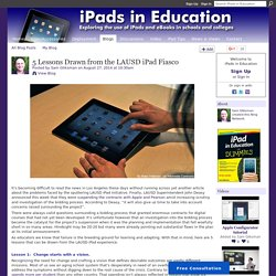 5 Lessons Drawn from the LAUSD iPad Fiasco