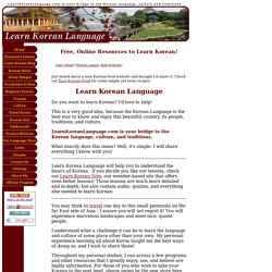 Learn Korean - Free Online Korean Lessons and Education on Korean Culture