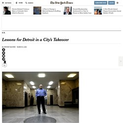 Lessons for Detroit in Pontiac's Years of Emergency Oversight