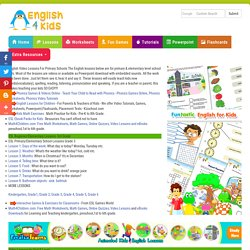 ESL Lessons for Kids, English for Primary school kids, 3rd Grade