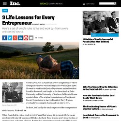9 Life Lessons for Every Entrepreneur