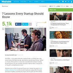 7 Lessons Every Startup Should Know