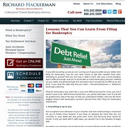 Lessons That You Can Learn From Filing for Bankruptcy