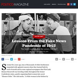 Lessons From the Fake News Pandemic of 1942
