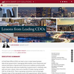 Lessons from Leading CDOs