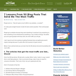 7 Lessons From 50 Blog Posts That Send Me The Most Traffic