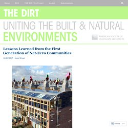 Lessons Learned from the First Generation of Net-Zero Communities – THE DIRT