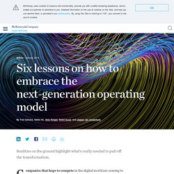 Six lessons on how to embrace the next-generation operating model