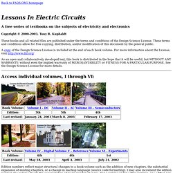 Lessons In Electric Circuits