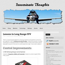 Lessons in Long Range FPV
