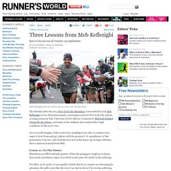 Three Lessons from Meb Keflezighi