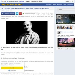 25 Lessons From Khalil Gibran That Can Transform Your Life