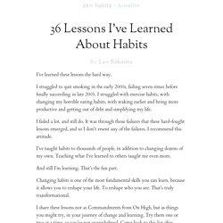 36 Lessons I've Learned About Habits