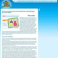 The Lorax-Lessons to be Learned, Activities, Lessons & More!
