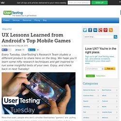 UX Lessons Learned from Android's Top Mobile Games