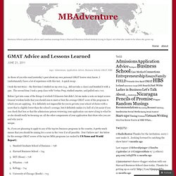 GMAT Advice and Lessons Learned « MBAdventure