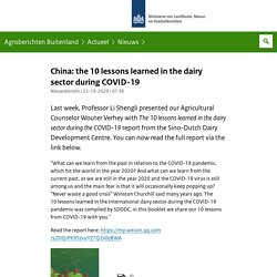 agroberichtenbuitenland_nl 22/10/20 China: the 10 lessons learned in the dairy sector during COVID-19