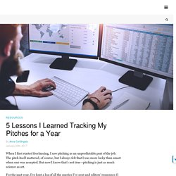 5 Lessons I Learned Tracking My Pitches for a Year