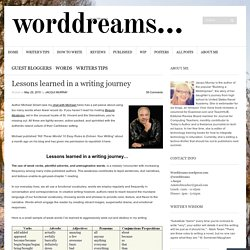 Lessons learned in a writing journey