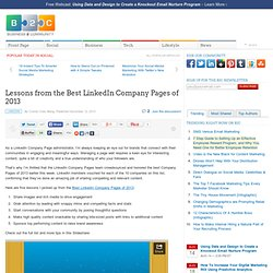 Lessons from the Best LinkedIn Company Pages of 2013