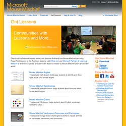 Get Lessons | Microsoft Mouse Mischief