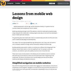 Lessons from mobile web design