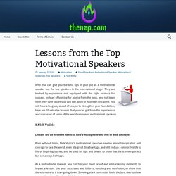 Lessons from the Top Motivational Speakers