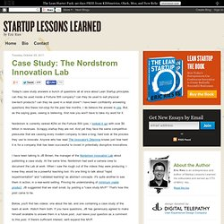 Case Study: The Nordstrom Innovation Lab