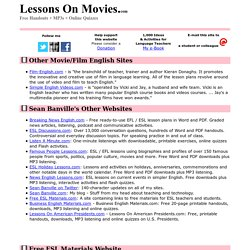 Lessons On Movies.com: Links