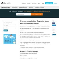 7 Lessons Apple Can Teach Us About Persuasive Web Content