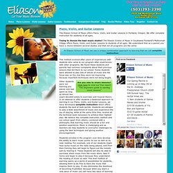 Piano Lessons and Violin Lessons, Portland Oregon - Eliason School of Music