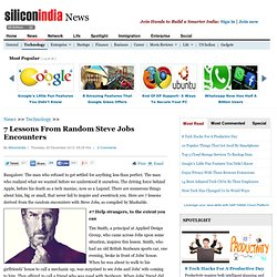 7 Lessons From Random Steve Jobs Encounters
