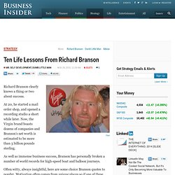 Ten Life Lessons From Richard Branson